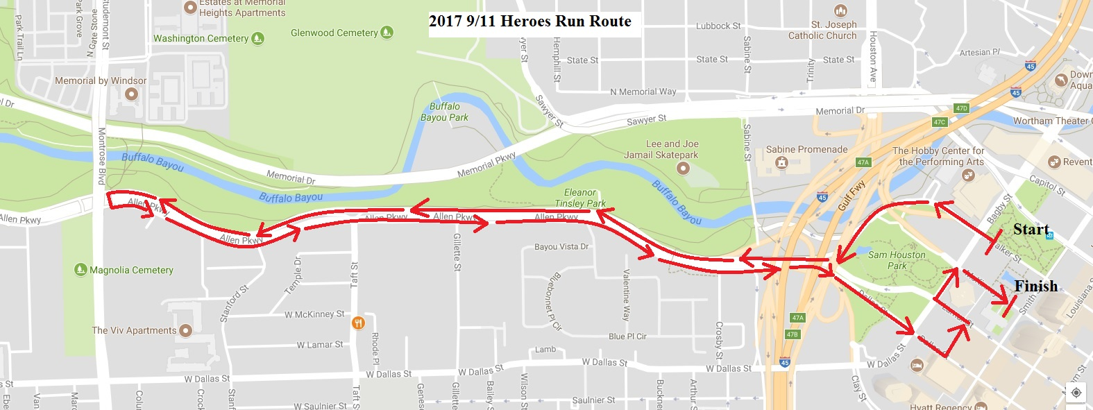 2017 Heroes Run Final Route